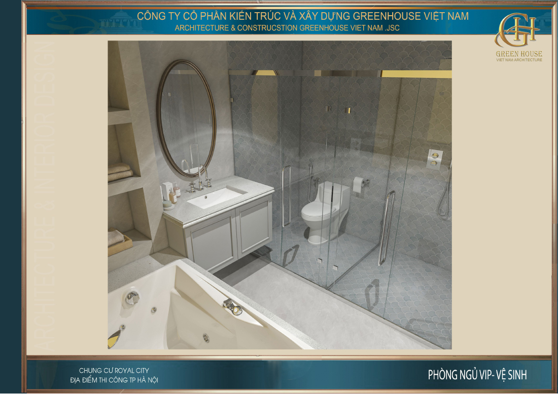 Không gian phòng tắm riêng của phòng ngủ master