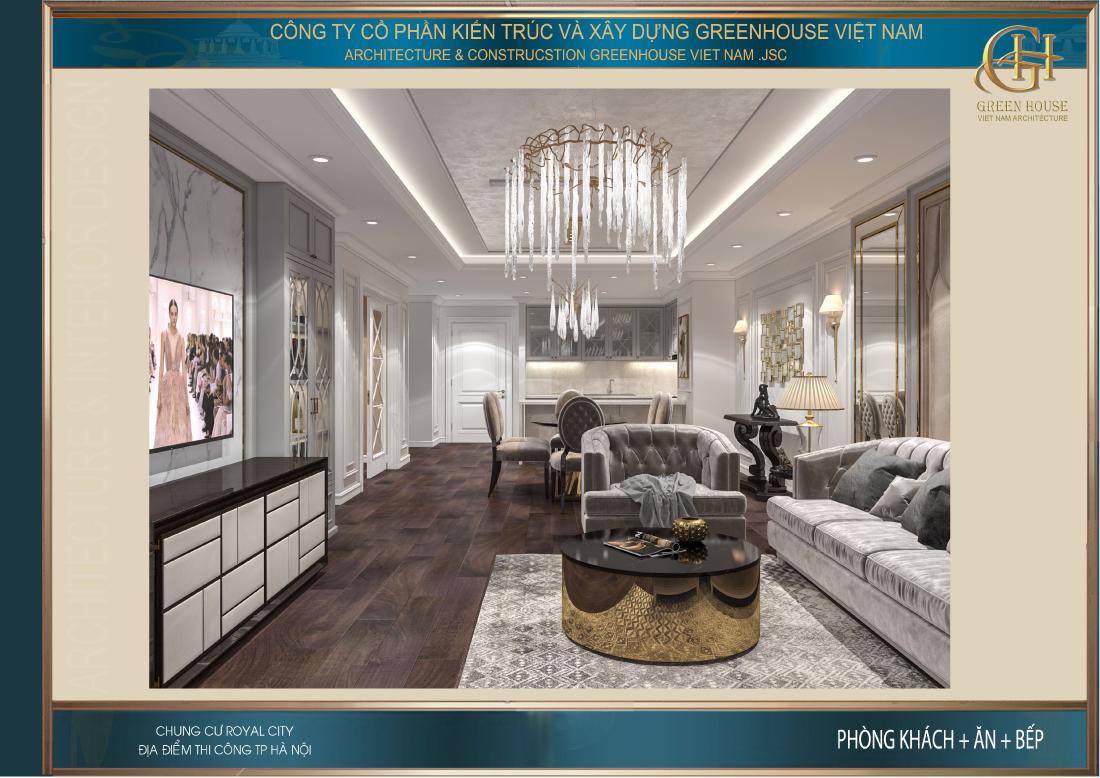 Bộ sofa được thiết kế tỉ mỉ cầu kì dành riêng cho căn hộ cao cấp này