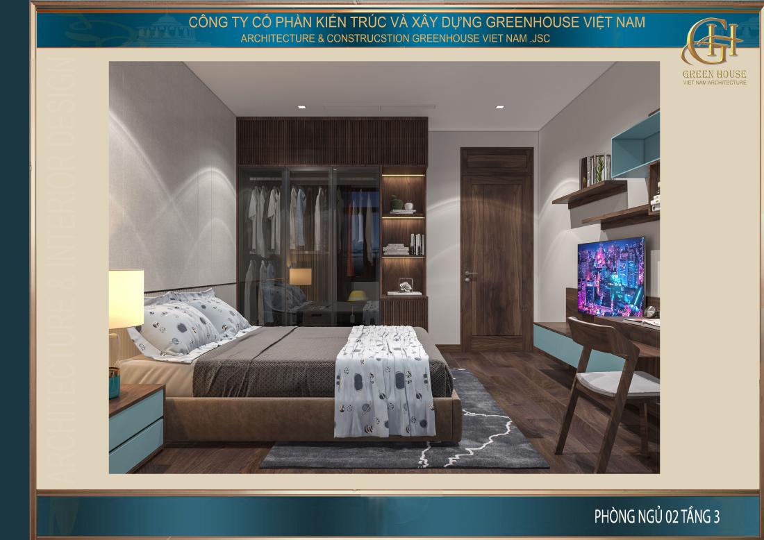 Căn phòng được bố trí đầy đủ nội thất tiện nghi phù hợp với các bé