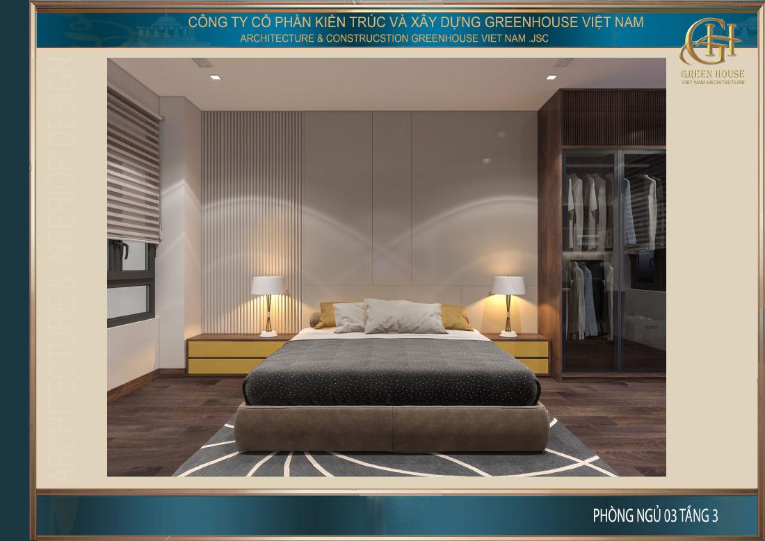 Thiết kế nội thất phòng ngủ với họa tiết trẻ trung cùng góc học tập gọn gàng, khoa học