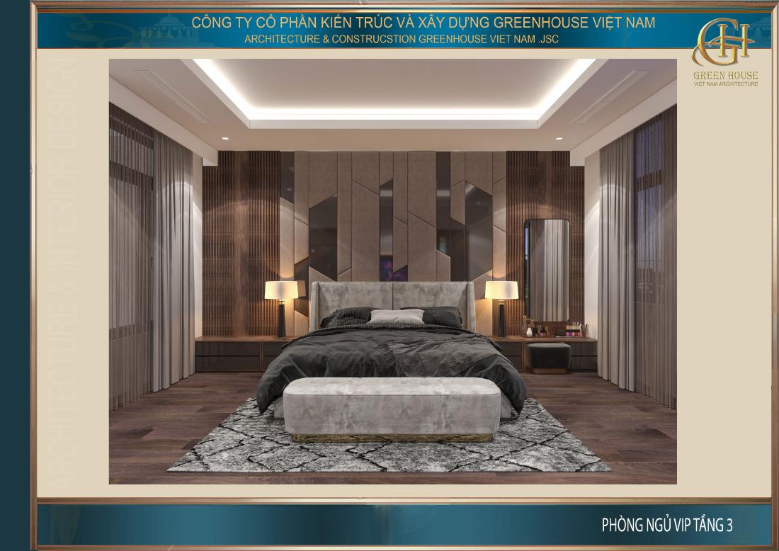 Không gian phòng ngủ VIP với nội thất thông minh, đa năng