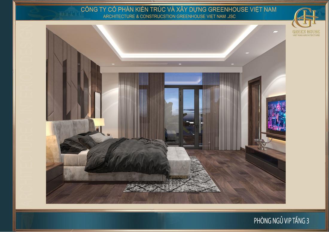 Thiết kế nội thất phòng ngủ master đẳng cấp, sang trọng nhưng cũng rất gần gũi, trang nhã