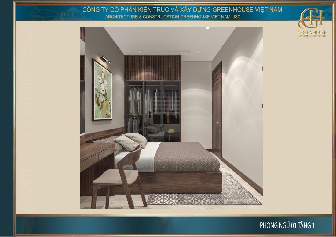 Thiết kế đơn giản, tinh tế với đầy đủ các đồ nội thất cần thiết cho nhu cầu sinh hoạt và nghỉ ngơi