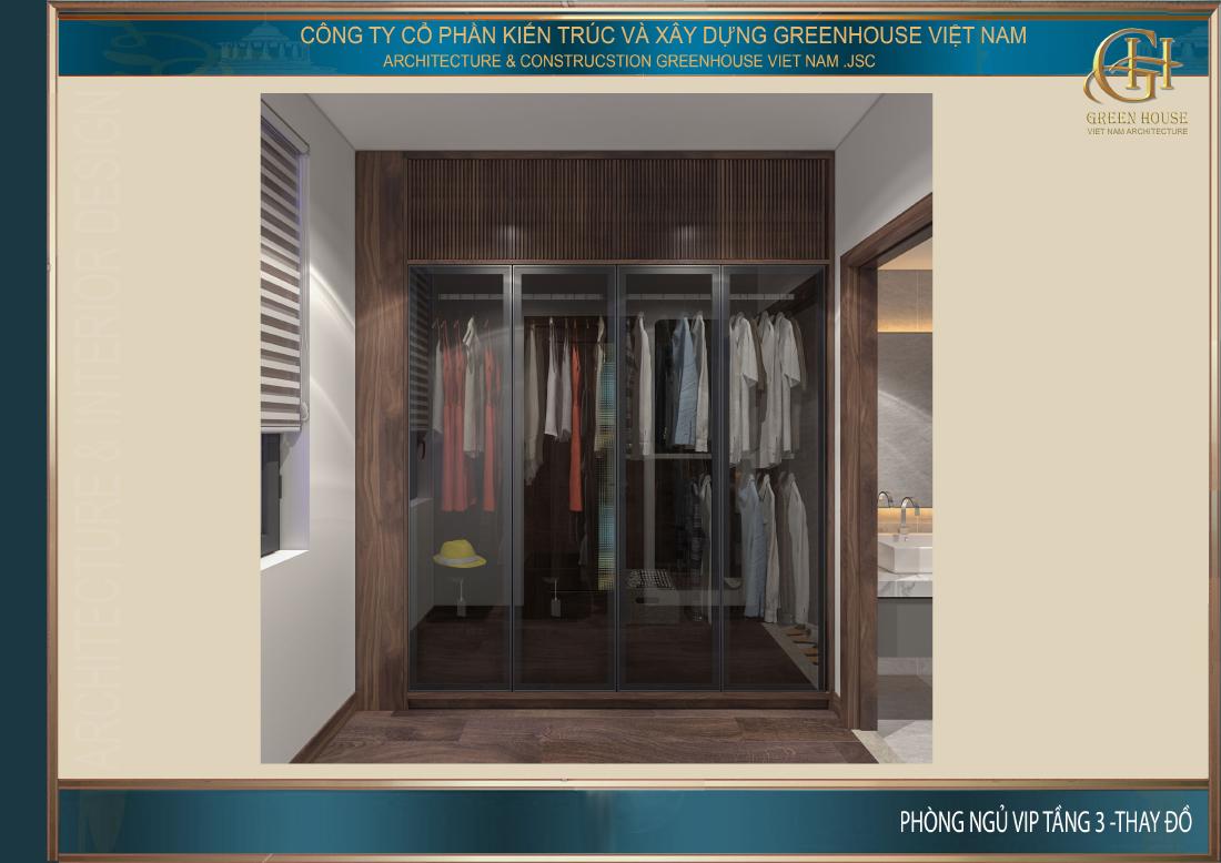 Diện tích phòng thời trang không lớn nhưng đáp ứng đủ nhu cầu của chủ nhân căn phòng