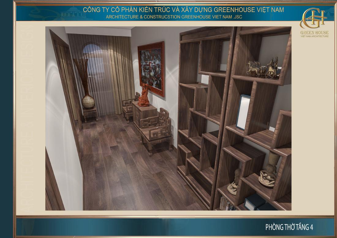 Thiết kế phòng kỷ vật với chất liệu gỗ chủ đạo