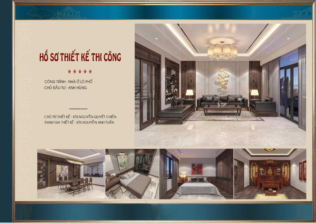 Thiết kế nội thất nhà phố 4 tầng tại Hải Dương - CĐT Anh Hùng