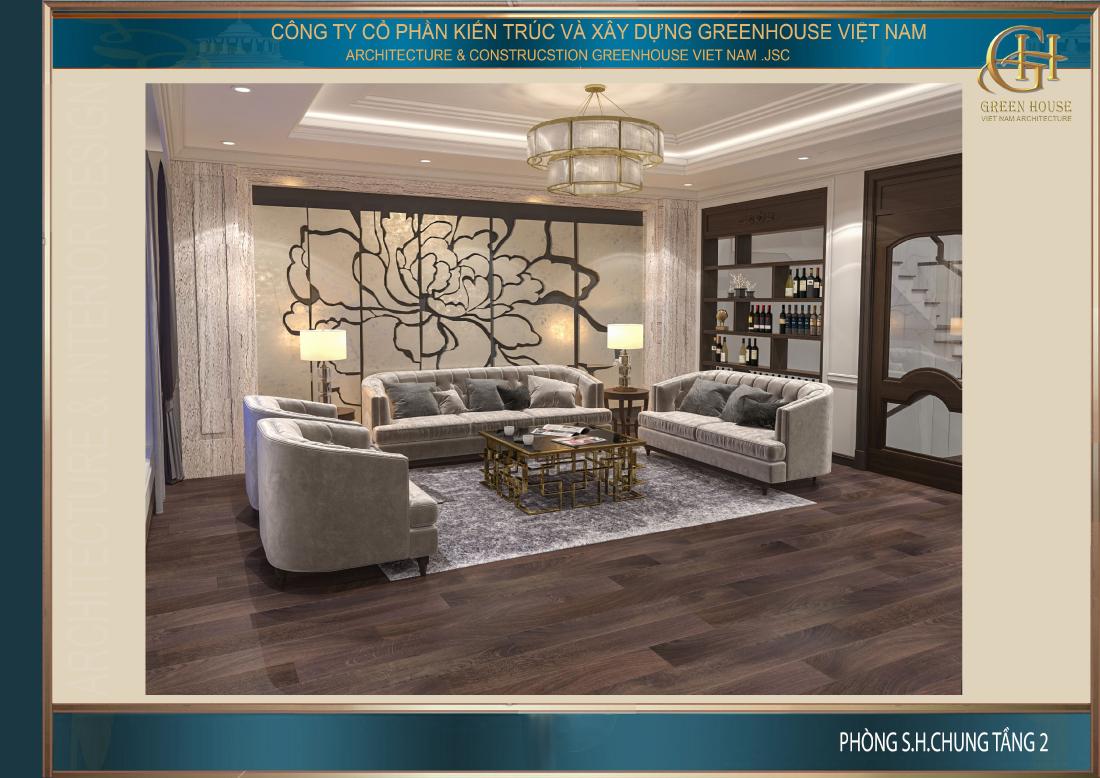 Thiết kế mở mang đến cảm giác rộng thoáng cùng vẻ đẹp lãng mạn cho không gian này