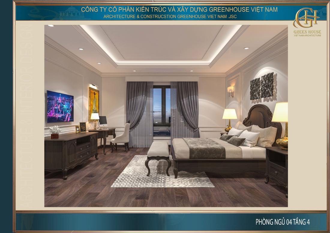 Thiết kế phòng ngủ số 4 tại tầng 4