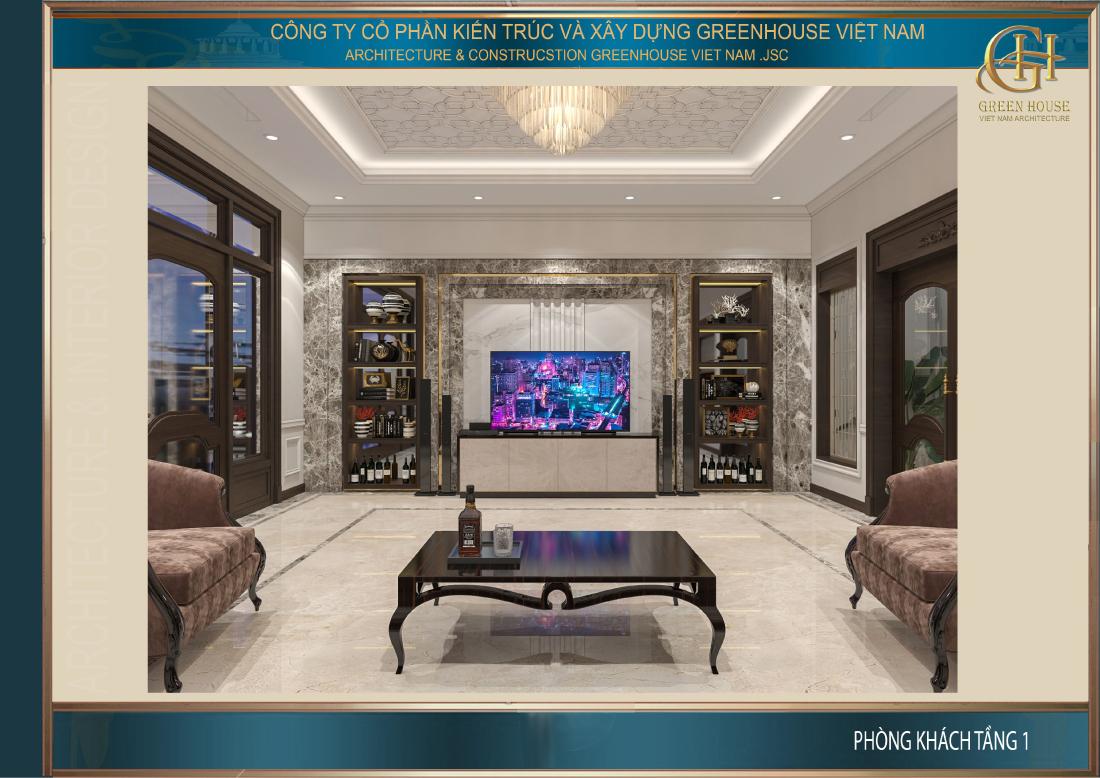 Thiết kế nội thất phòng khách đề cao yếu tố phong thủy cho gia chủ