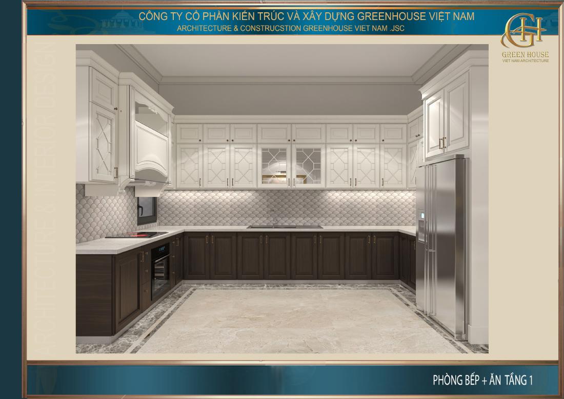 Thiết kế không gian phòng bếp đảm bảo sự sạch sẽ gọn gàng