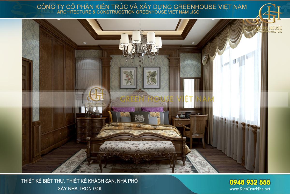 Sang trọng, tinh tế và quyền lực chính là ấn tượng về thiết kế nội thất của phòng ngủ chính