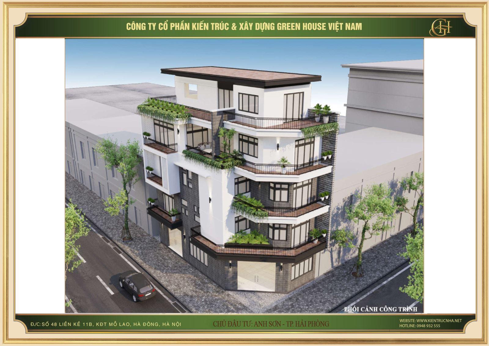 Thiết kế nhà phố của anh Sơn sử dụng khối kiến trúc hiện đại với nhiều khoảng không gian mở