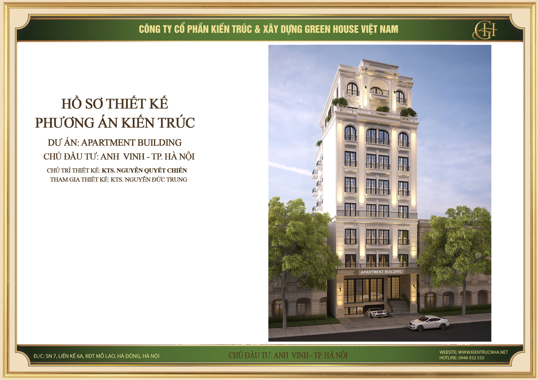Dự án thiết kế apartment building 9 tầng tại Hà Nội - CĐT Anh Vinh