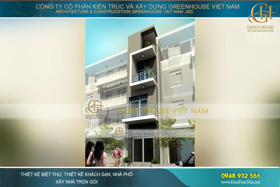 Kiến trúc thiết kế hiện đại và ấn tượng của ngôi nhà phố 4 tầng tại Hà Nội