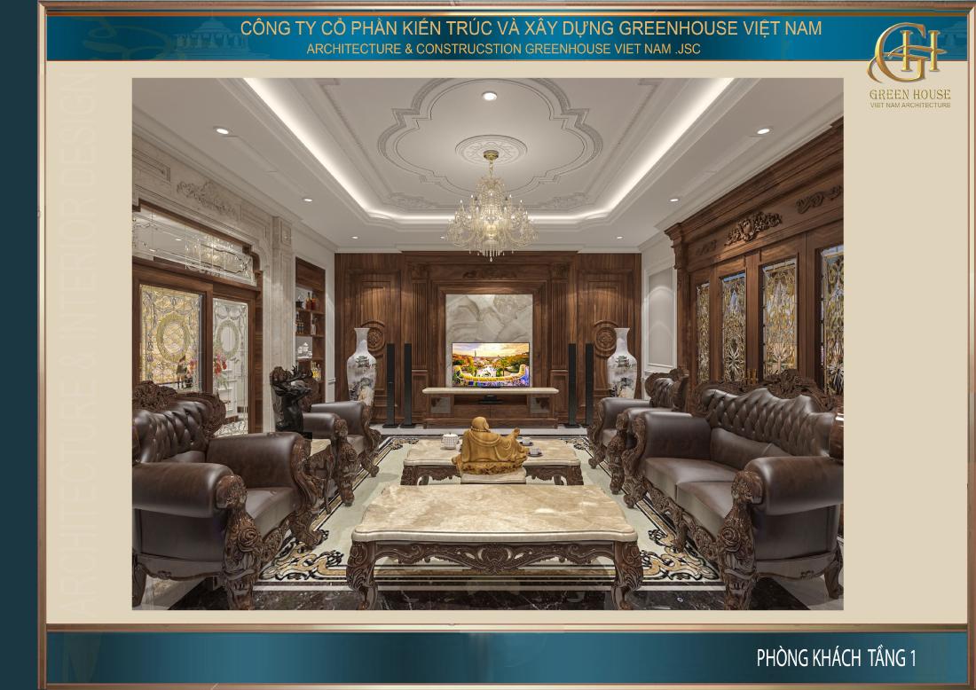 Thiết kế không gian phòng khách đẹp lộng lẫy đến choáng ngợp