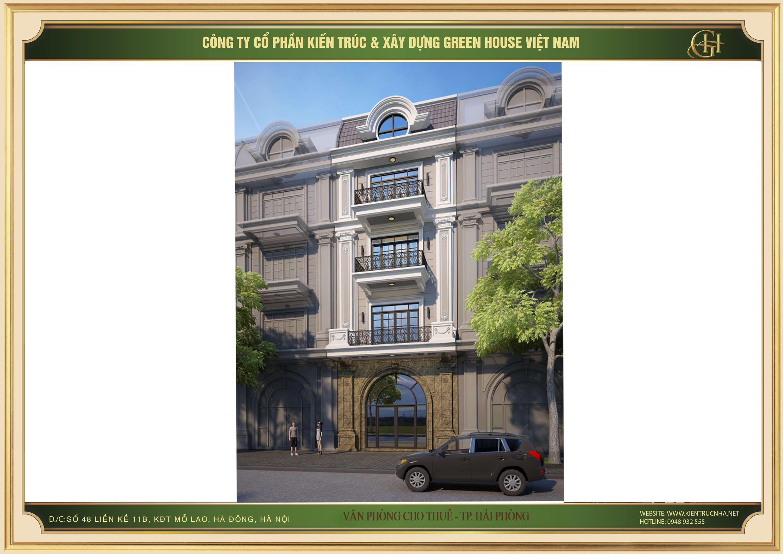 Nhà phố 4 tầng kết hợp làm văn phòng đẹp hiện đại tại Hải Phòng