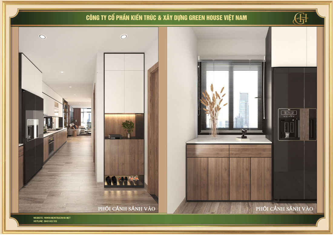 Thiết kế phối cảnh sảnh vào của chung cư tại Hà Nội