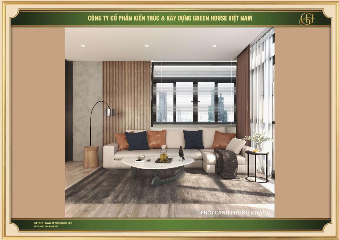 Đặc biệt phòng khách được thiết kế rất nhiều cửa sổ tạo tầm view cực đẹp cho căn phòng