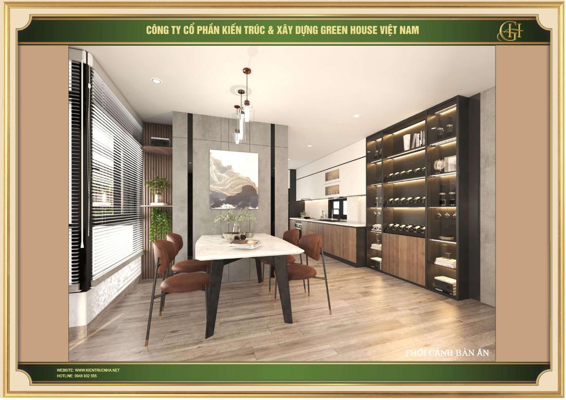 Tủ rượu được thiết kế sang trọng để phù hợp với chủ nhân