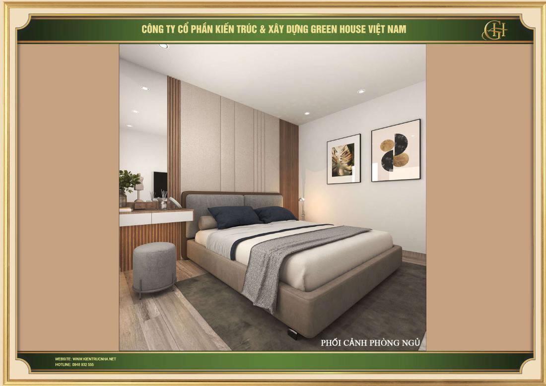 Thiết kế phòng ngủ cho chung cư hiện đại tại Hà Nội
