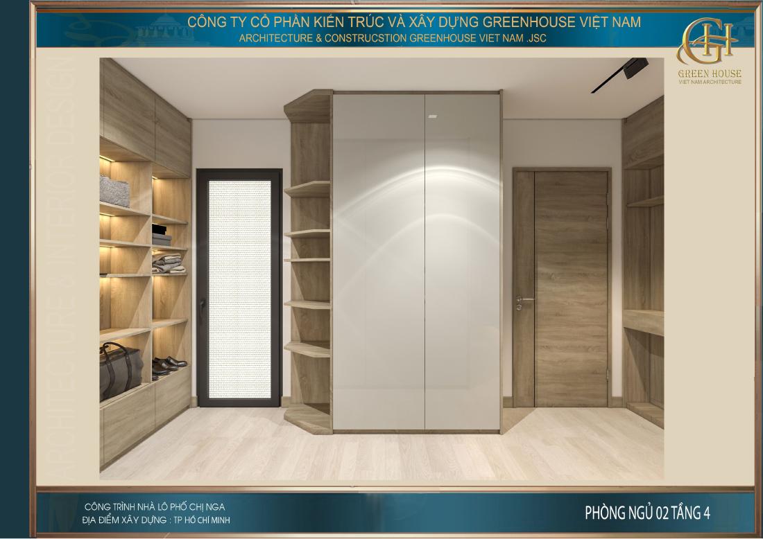 Thiết kế không gian đựng tủ quần áo và phòng thay đồ cho chủ nhân