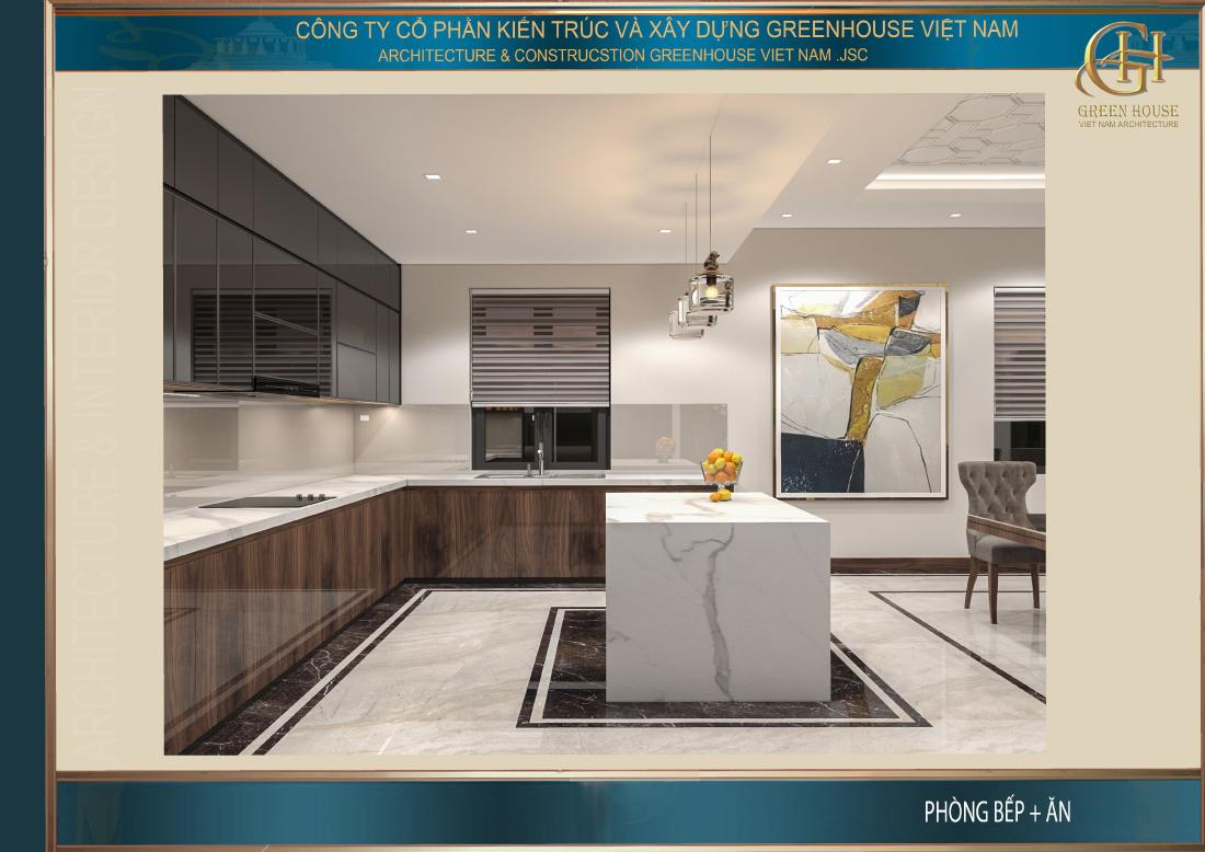 Góc nhìn khác của không gian phòng bếp