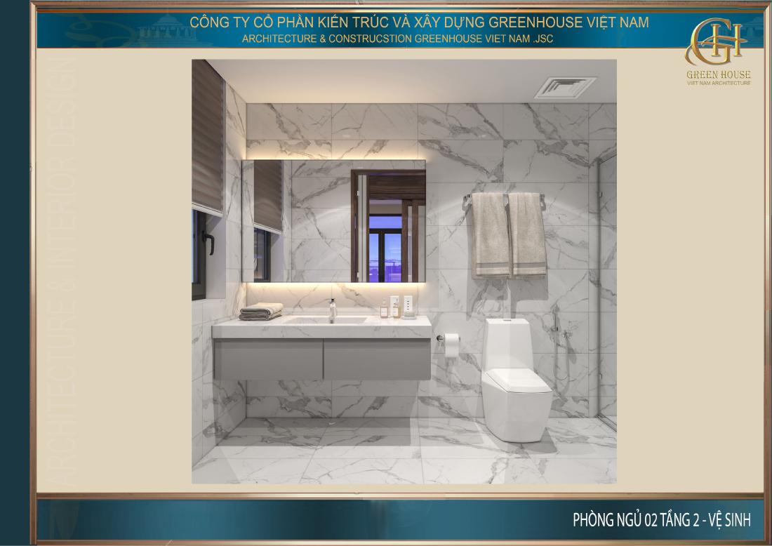 Phòng vệ sinh riêng của phòng ngủ số 2 tầng 2