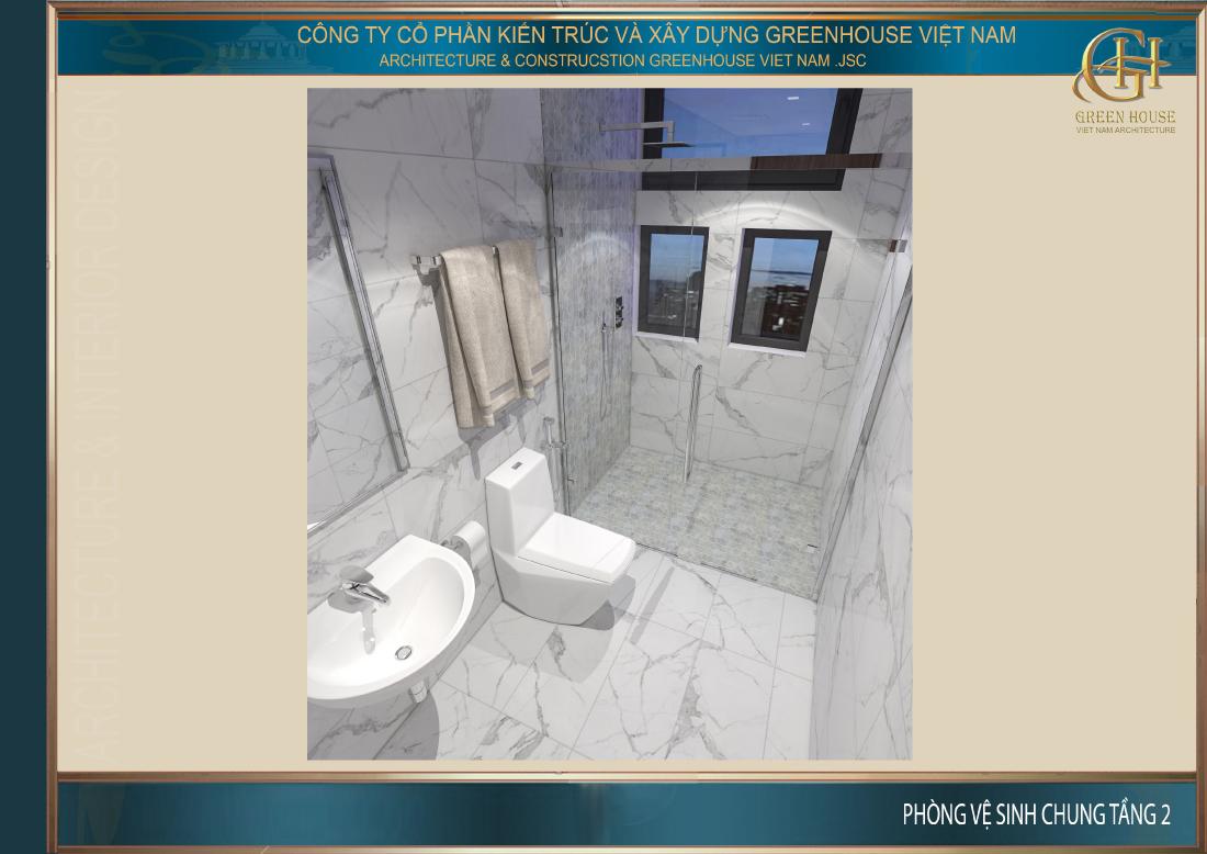 Phòng vệ sinh chung trên tầng 2