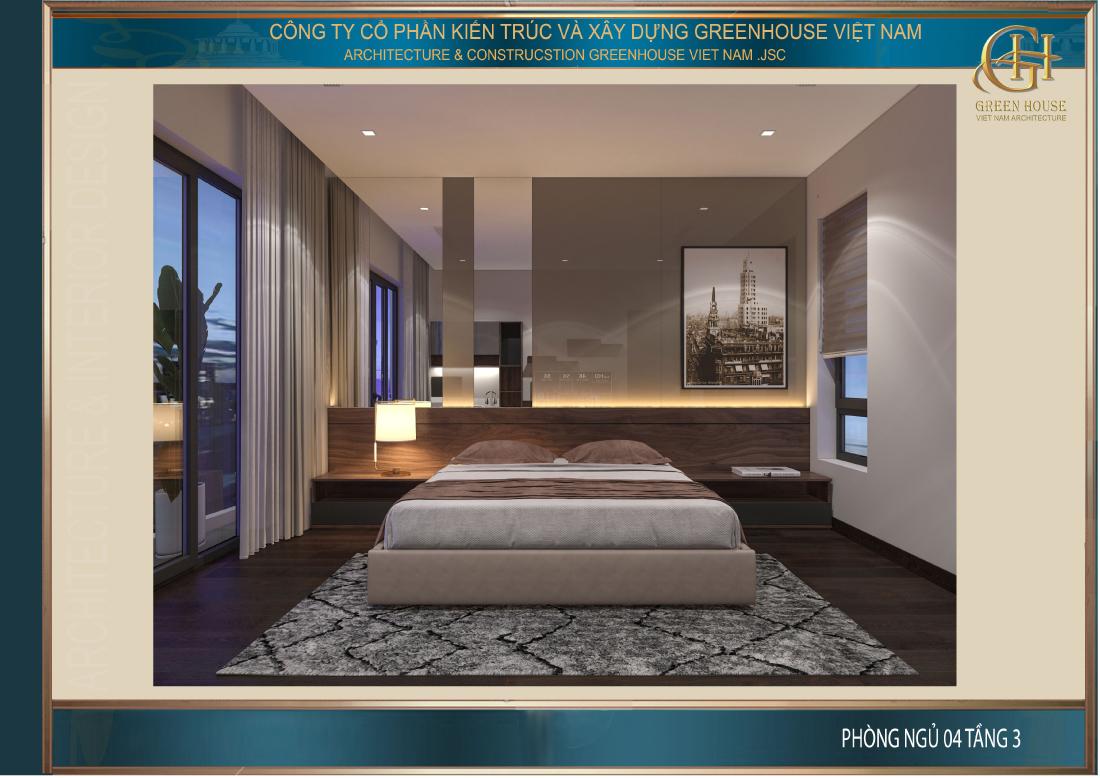 Phòng ngủ thiết kế đơn giản nhưng vẫn đảm bảo đủ công năng