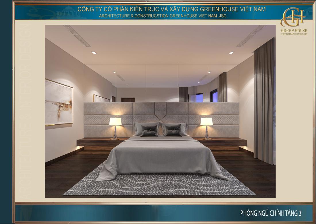Cửa sổ được thiết kế trong phòng ngủ giúp không gian luôn được thông thoáng