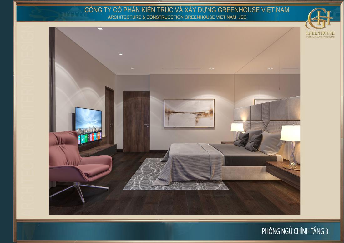 Nội thất phô diễn được vẻ đẹp tân cổ điển cao cấp của phòng ngủ nhà ống