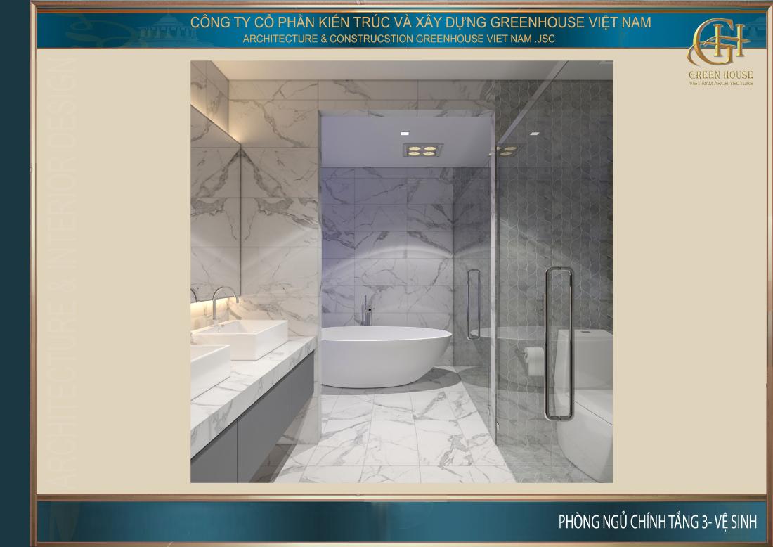 Phòng WC được bố trí tiện lợi và thông thoáng kết hợp với phòng thay đồ đa năng, tiện dụng