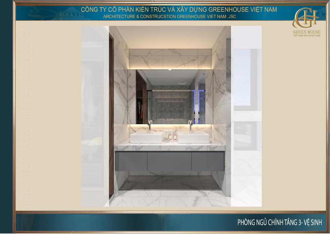 Phòng vệ sinh hiện đại tiện nghi