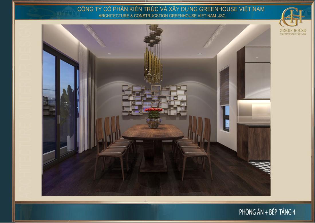 Thiết kế phòng ăn sang trọng của nhà phố tân cổ điển 5 tầng tại Hà Nội
